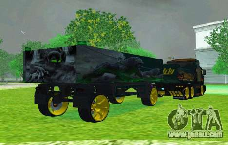 Trailer for KAMAZ 65115 for GTA San Andreas side view