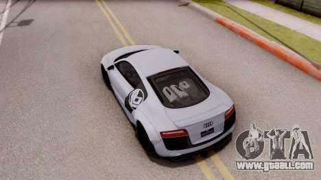 Audi R8 V10 Plus LB Performance for GTA San Andreas back view