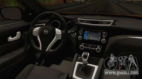 Nissan Qashqai 2016 HQLM for GTA San Andreas inner view