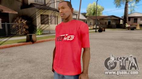 Deep Web T-Shirt for GTA San Andreas