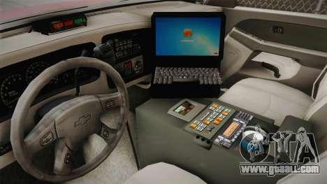 Chevrolet Silverado Work Truck 2001 for GTA San Andreas inner view