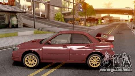 Subaru Impreza WRX STI 2006 for GTA San Andreas left view