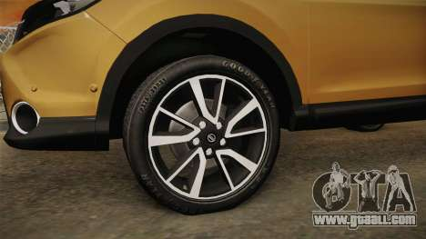 Nissan Qashqai 2016 HQLM for GTA San Andreas back view