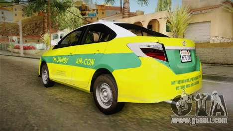Toyota Vios Sturdy Philippine Taxi 2014 for GTA San Andreas left view
