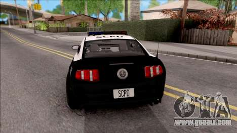 Ford Mustang GT High Speed Police for GTA San Andreas back left view
