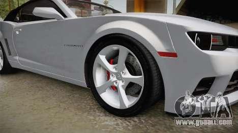 Chevrolet Camaro Convertible 2014 for GTA San Andreas back view