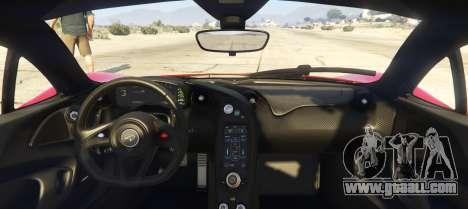 GTA 5 McLaren P1 2014 2.0 back view