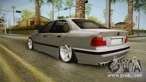 BMW 3 Series E36 1992 Sedan for GTA San Andreas back left view