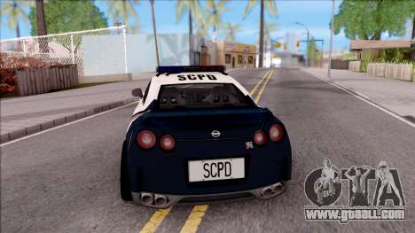 Nissan GT-R 2013 High Speed Police for GTA San Andreas back left view