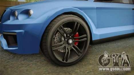 GTA 5 Enus Huntley Coupè for GTA San Andreas back view
