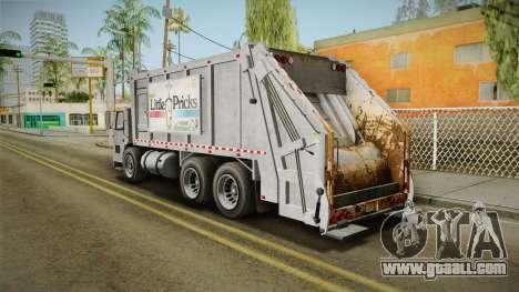 GTA 5 Jobuilt Trashmaster 2 IVF for GTA San Andreas left view