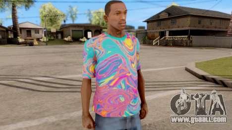 T-Shirt Psychedelic for GTA San Andreas second screenshot