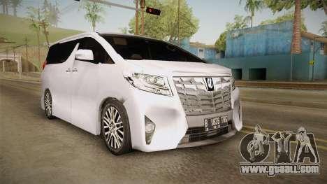 Toyota Alphard 3.5G 2015 v2 for GTA San Andreas