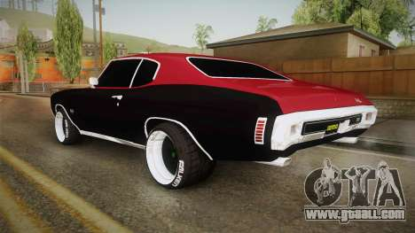 Chevrolet Chevelle SS 1970 Drag Racing Tuned for GTA San Andreas left view
