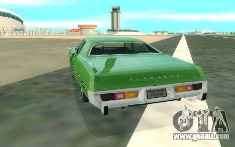 Plymouth Fury Salon 1978 for GTA San Andreas right view