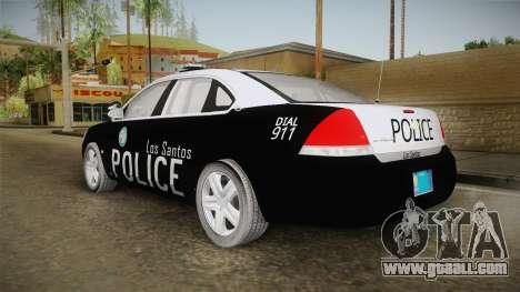Chevrolet Impala 2009 LSPD for GTA San Andreas left view