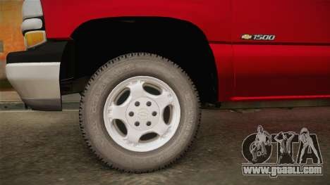 Chevrolet Silverado Work Truck 2001 for GTA San Andreas back view