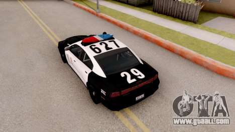 Dodge Charger Police Interceptor for GTA San Andreas back view