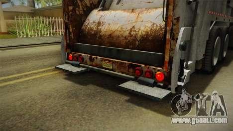 GTA 5 Jobuilt Trashmaster 2 IVF for GTA San Andreas interior
