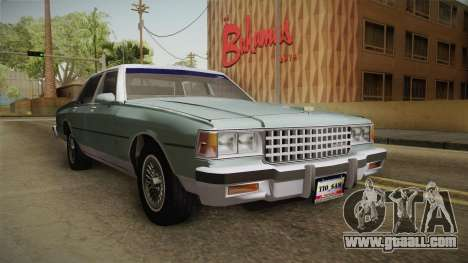 Chevrolet Caprice 1985 Stock for GTA San Andreas right view