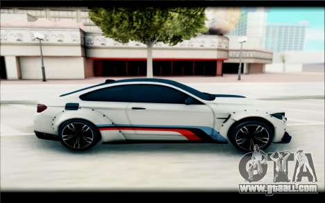 BMW M4 Perfomance for GTA San Andreas back left view
