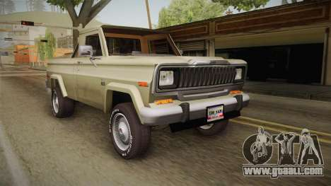 Jeep J-10 Comanche for GTA San Andreas