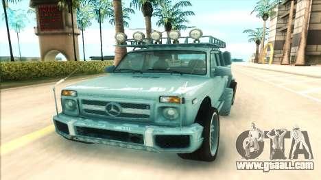 Lada Niva 6x6 for GTA San Andreas back view