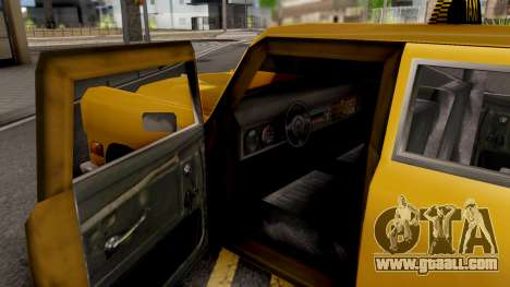 Cabbie New Texture for GTA San Andreas inner view