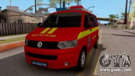 Volkswagen Transporter T5 Vatrogasci for GTA San Andreas