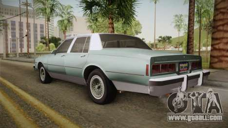 Chevrolet Caprice 1985 Stock for GTA San Andreas left view