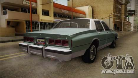 Chevrolet Caprice 1985 Stock for GTA San Andreas back left view