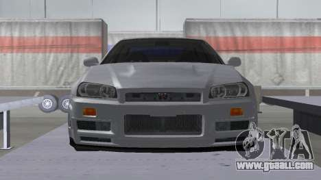 Nissan Skyline R34 Z-tune for GTA San Andreas right view