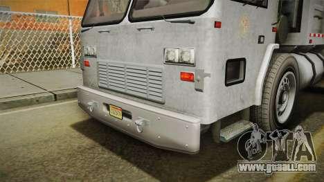 GTA 5 Jobuilt Trashmaster 2 IVF for GTA San Andreas upper view