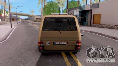 Volkswagen Transporter T4 Special for GTA San Andreas back left view