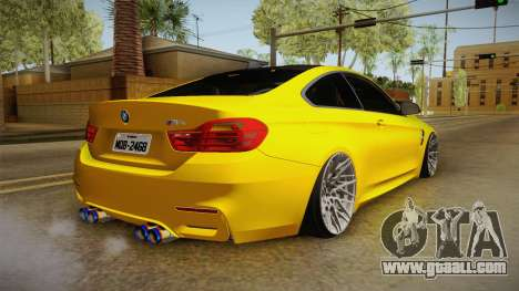 BMW M4 F82 Stance for GTA San Andreas left view