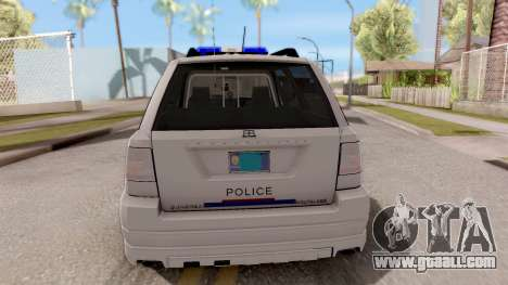 Dundreary Landstalker Hometown PD 2009 for GTA San Andreas back left view