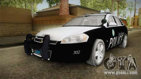 Chevrolet Impala 2009 LSPD for GTA San Andreas back left view