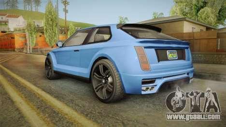 GTA 5 Enus Huntley Coupè for GTA San Andreas right view