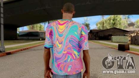 T-Shirt Psychedelic for GTA San Andreas third screenshot