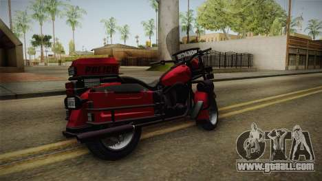 GTA 5 Police Bike for GTA San Andreas left view