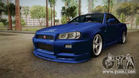 Nissan Skyline GT-R34 Tunable for GTA San Andreas right view