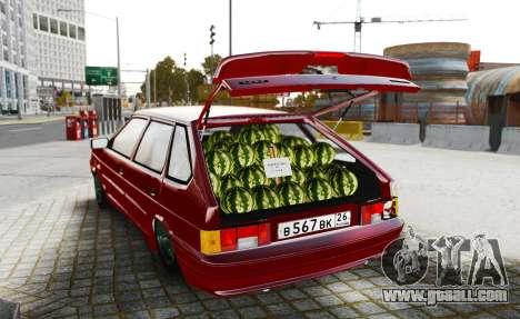 VAZ 2114 Seller Watermelon for GTA 4 back left view
