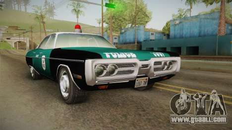 Plymouth Fury I NYPD for GTA San Andreas