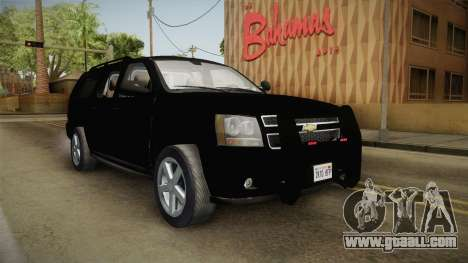 Chevrolet Suburban 2009 Flashpoint for GTA San Andreas right view
