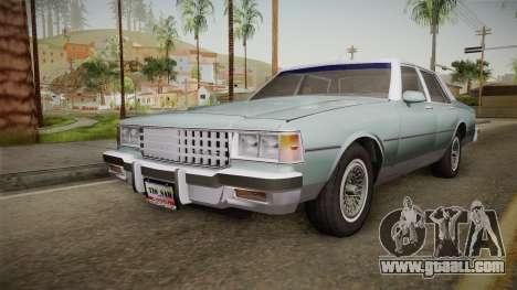 Chevrolet Caprice 1985 Stock for GTA San Andreas