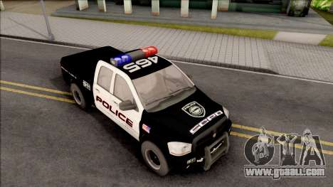Dodge Ram High Speed Police for GTA San Andreas right view