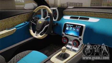Chevrolet Camaro Convertible 2014 for GTA San Andreas interior