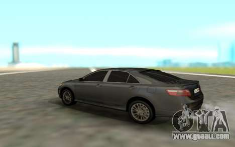 Toyota Camry Sport for GTA San Andreas back left view