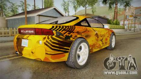 Mitsubishi Eclipse Itasha Car G41 for GTA San Andreas back left view