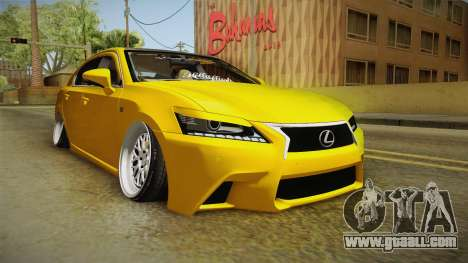 Lexus GS350 F Sport IV Slammed 2013 for GTA San Andreas right view